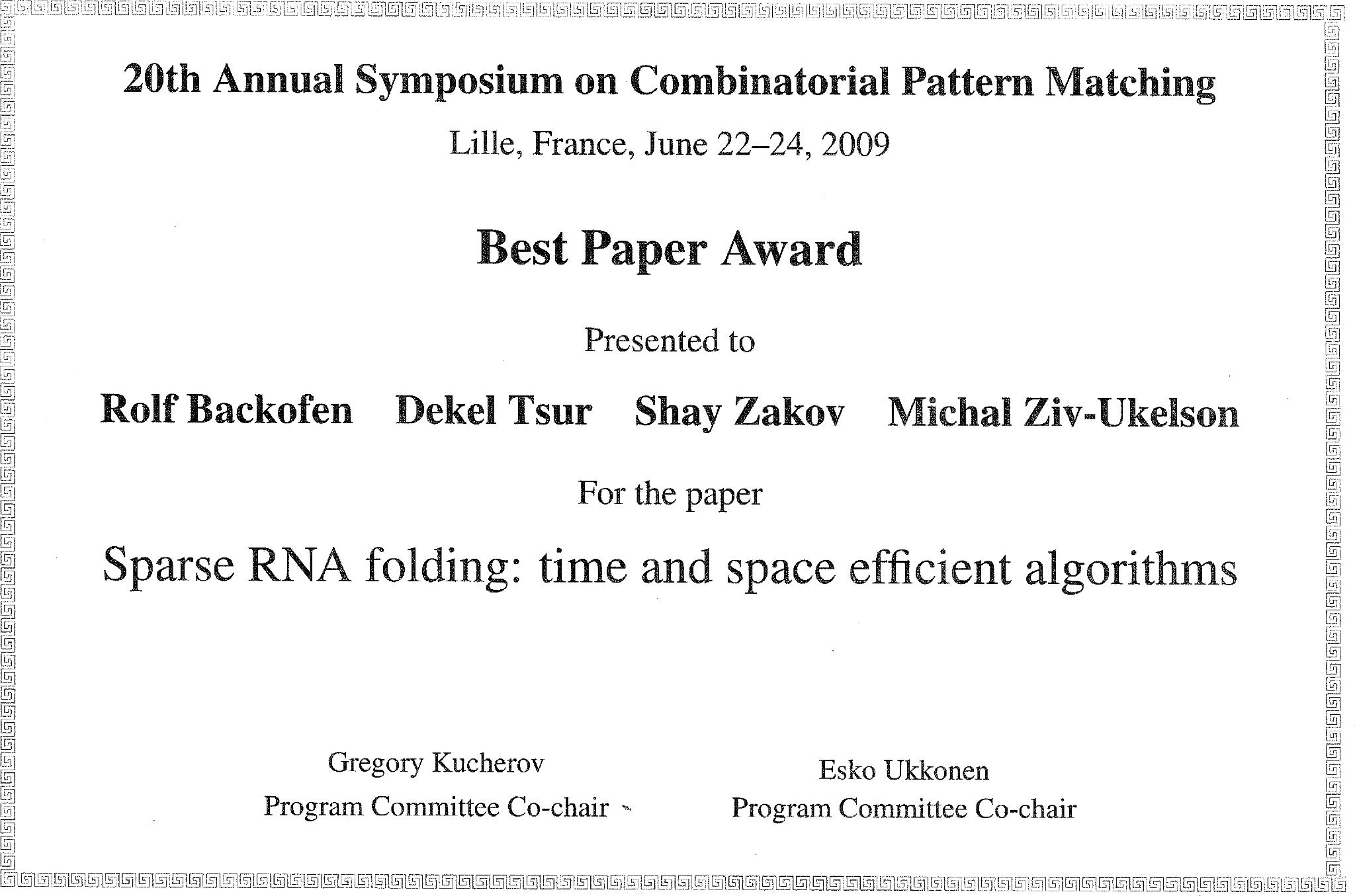 negev computational biology awards